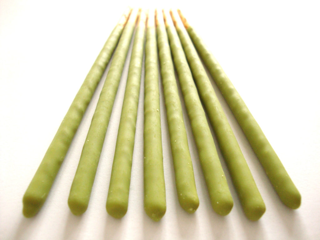 Pocky Matcha Green Tea Cream Covered Biscuit Sticks